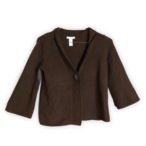 TWEEDS Angora Lamb's Wool Wide Sleeve Cardigan